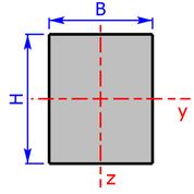 Querschnitt eines Rechteck-Profils