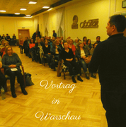 Geistheiler Jesus Lopez hält einen Vortrag in Polen, Veranstaltung