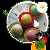 zuckerfreie Biscuittörtchen, Biscuittörtchen ohne Zucker, Biscuittortenrezept, zuckerfreie Rezepte für Buiscuittörtchen