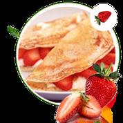 zuckerfreie Crepes ohne Zucker, Rezepte ohne Zucker für Pfannkuchen, Orangensauce
