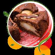 zuckerfreie Schoko-Birnen-Kuchen ohne Zucker, zuckerfreie Rezepte, Schokokuchen ohne Zucker, Schokoladenkuchenrezept