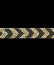 Band 14, Chevron Schwarz-Gold mit Glitzerfaden Design:Farbenmix 12mm