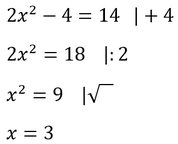Beispiel für die Äquivalenzumformung mithilfe von mehreren Rechenoperationen