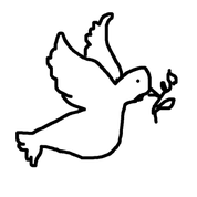 Illustration einer Taube