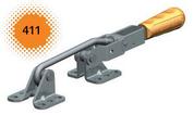 Verschlussspanner / Bügelspanner für zylindrische Befestigungsflächen mit waagrechtem Fuß