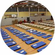 Notunterkunft, Flüchtlingsheim, Prince Rupert School, SDS Sicherheitsdienst