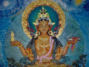 Spirituelle Kunst, tibetische Thangkas, eine Tara