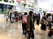 年末年始は9万人余が八重山関連路線を利用した=12月31日、新石垣空港