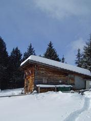 Unsere Jagdhütte im               Januar 2010