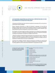 Les stratégies concertées sont disponibles sur le site: www.strategiesconcertees.be