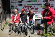 Georg Kielmansegg, Erich Diestinger, Harald Waidhofer, Lukas Planyavsky v.l.n.r