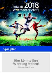 Wertige Spielplane Zur Fussball Weltmeisterschaft 2018 In