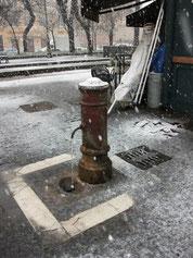 Снег в Риме 2010!