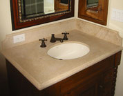 Beige countertop with an undermount sink