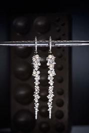 Diamant Ohrschmuck in Weissgold by Brusi - Foto by Matthias Baumbach