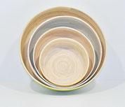 plats ronds en bambou 3 tailles / gamme transparence Caneco