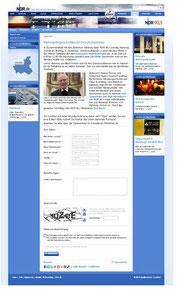 Online-Bewerbungsformular auf NDR.de