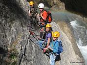 Karnische Kids im Klettersteig