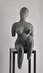 Die Träumende Frau Speckstein Skulptur