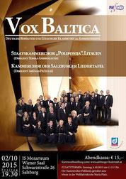 Konzertplakat VOX BALTICA