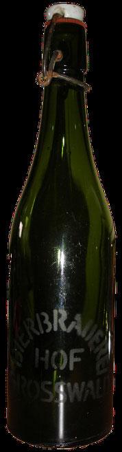 Bierflasche Grosswald Bierbrauerei Hof Eiweiler