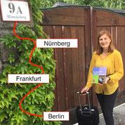 Nürnberg, Frankfurt, Damme und Berlin als Stationen