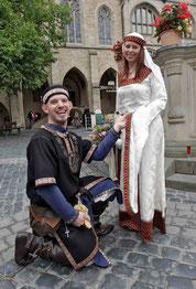 Juli2011, Hildesheimer Marktplatz, unsere Hochzeit
