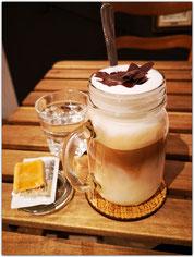 Latte Macchiato im Luckymonkey in Aarau
