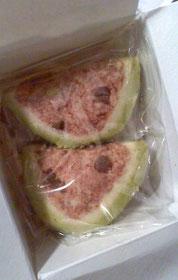 Kさん、手作りクッキーありがとうございます!スイカだ!