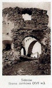 Брама замку на початку XX ст.