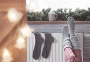 Bild: Warme Socken, Strumpf-Klaus