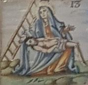 XIII Estación, Jesús en los brazos de su Madre
