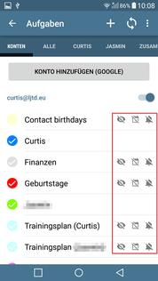 aCalendar+ Aufgaben Kalender verbergt 2