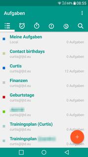 Aufgaben App OpenTasks Ansicht