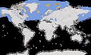 Karte zur Verbreitung des Eissturmvogels (Fulmarus glacialis)