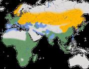 Karte zur Verbreitung des Graureihers (Ardea cinerea)