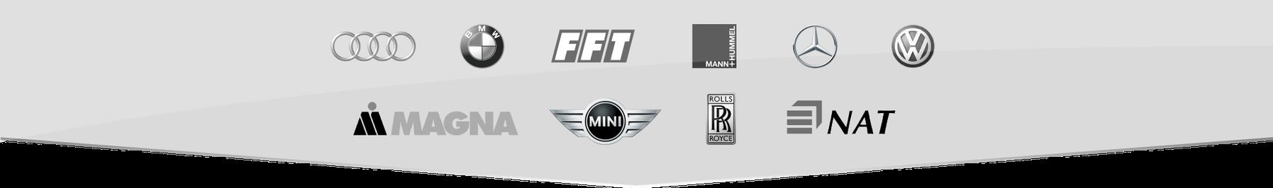 RTB und seine Referenzen: Ob Audi, BMW, Mercedes, VW oder Rolls Royce - zu unseren Kunden zählt das Who is Who der Automobilbranche