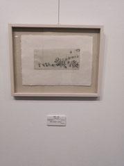 玄兎夜行 楮紙に銅版画 /雁皮刷り  95×205mm 22,000円(税込)