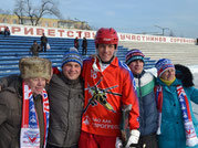 В. Братченко с болельщиками