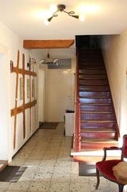 Treppenaufgang in die Ferienwohnungen