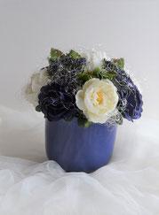 Rosen blau und creme