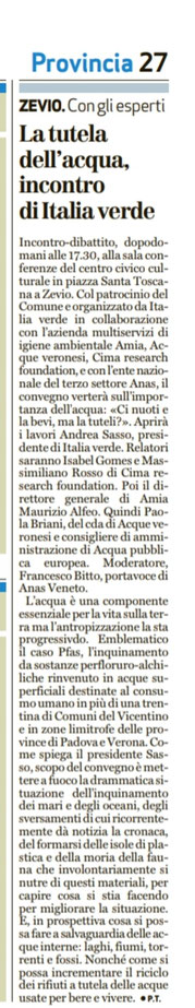 Dal quotidiano l'Arena del 15/03/2018.
