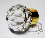GLOBE HANDL BIG Gold-Crystal Swarovski Crystals