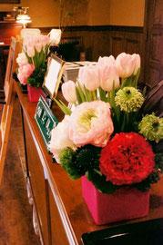 結婚式 ウェルカムフラワー 季節のお花を使って