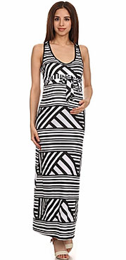 , black, white maternity dress