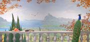Wandmalereien mediterraner Landschaften