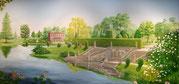 Wandmalereien barocker Parklandschaften