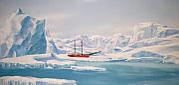 Wandmalereien Thema Arktis, Polar, Eis