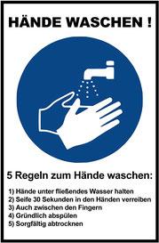 richtig Hände waschen