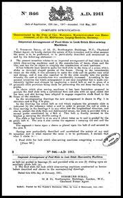 1911  Patent GB 00846